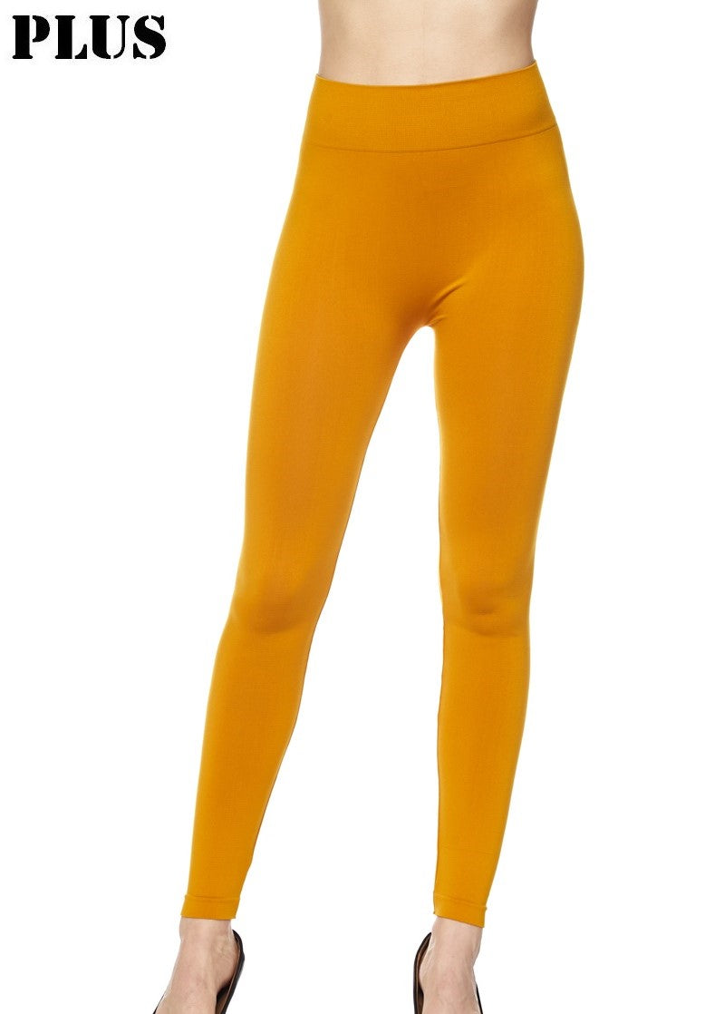 Mustard Leggings -Plus