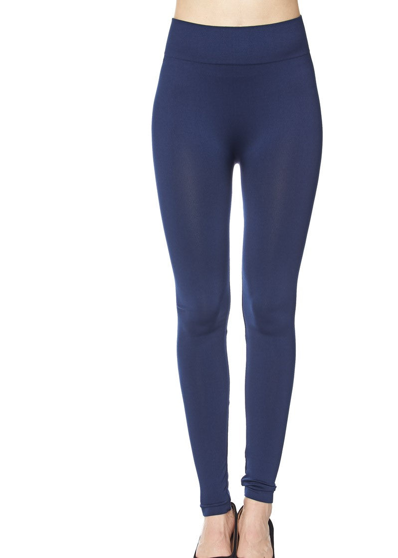 Navy Leggings-Curvy