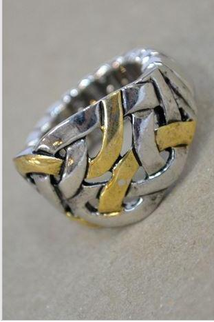 Rings- Silver and Gold Stretch Ring