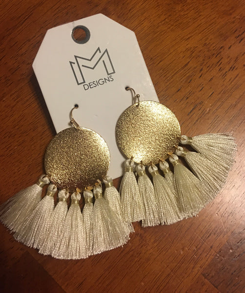 Trudy Ivory Tassel Earrings