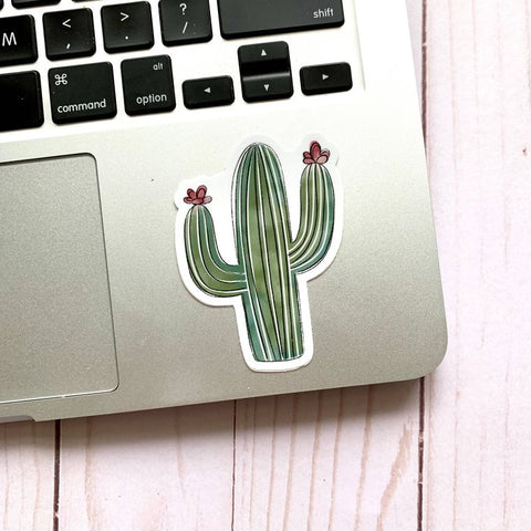 Watercolor Cactus Sticker