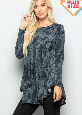 Crushin' On You Tunic-Curvy