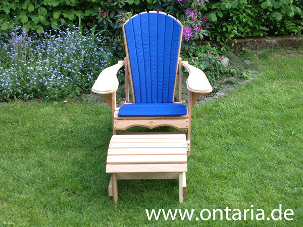 2 Adirondack Bear Chair Recliners W. Table & Cushion