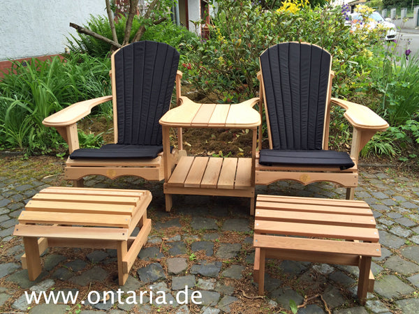 Adirondack Chair Tete A Tete With Footstools And Cushions Ontaria Eu