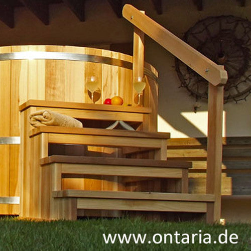 Stairs With Railing For Hot Tub Ontaria Ltd