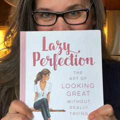 Kelly Muciy with Lazy Perfection Book