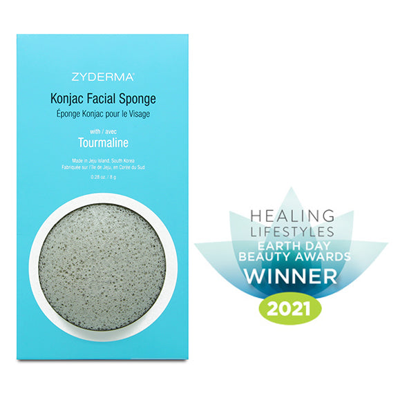 Konjac Facial Sponge<br>with Tourmaline