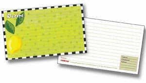 Labeleze Recipe Cards with Protective Covers 4 x 6 - Lemon