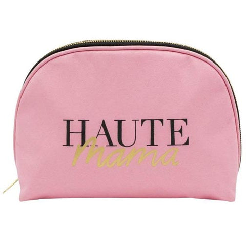About Face Designs Cotton Canvas Cosmetic Bag - Haute Mama