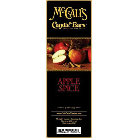 McCall's Candles Candle Bar 5.5 oz. - Apple Spice