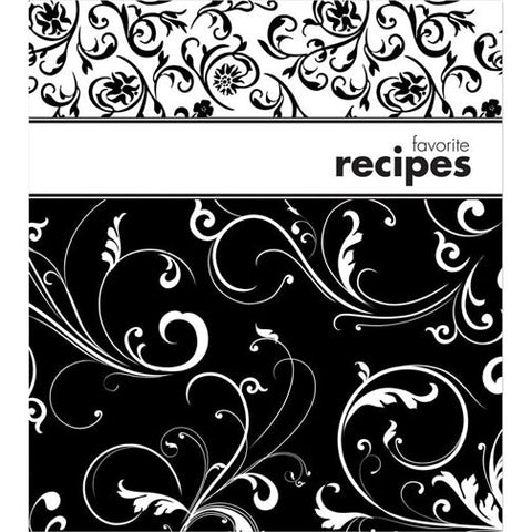 Brownlow Gifts Recipe Binder - Black & White
