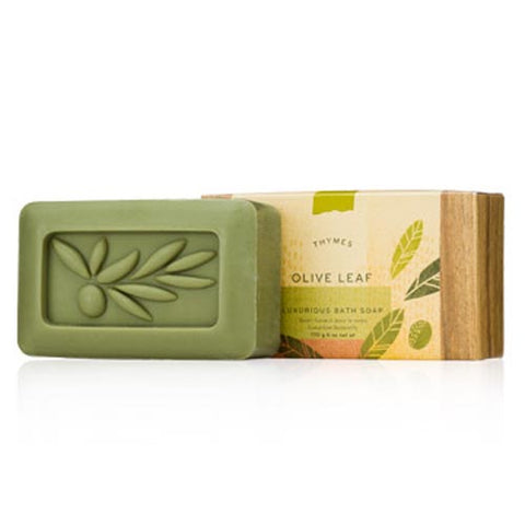 Thymes Luxurious Bath Soap 6 Oz. - Olive Leaf