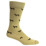 Brown Dog Hosiery Men's Socks - Beau Khaki