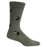 Brown Dog Hosiery Men's Socks - Church Grey Heather