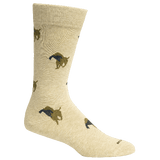 Brown Dog Hosiery Men's Socks - Church Oatmeal