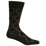 Brown Dog Hosiery Men's Socks - High Brass Black