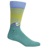 Brown Dog Hosiery Men's Socks - Atlantic Beach Della Blue Waves