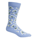 Brown Dog Hosiery Men's Socks - High Cotton Della Blue