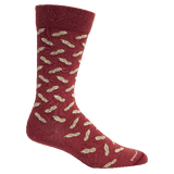 Brown Dog Hosiery Men's Socks - Peanuts Tibetan Red