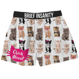 Brief Insanity Boxers - Check Meowt