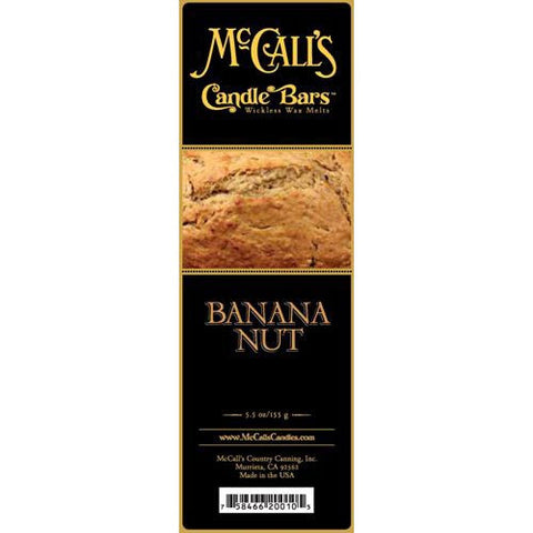 McCall's Candles Candle Bar 5.5 oz. - Banana Nut Bread