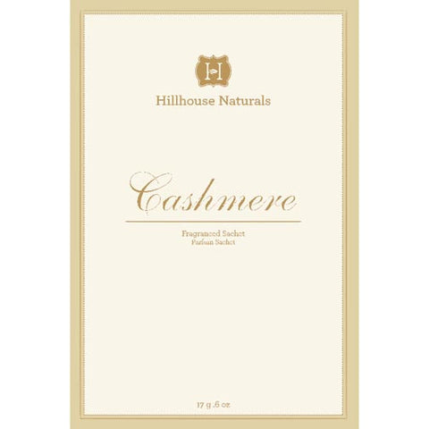 Hillhouse Naturals Sachet 0.6 Oz. Set of 6  - Cashmere