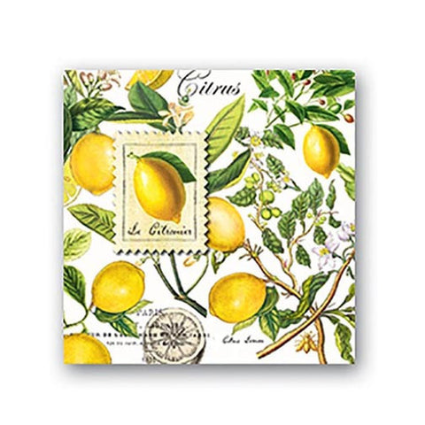 Michel Design Works Paper Cocktail Napkins - Lemon Basil