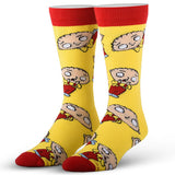 Cool Socks Men's Crew Socks - Stewie Griffin Family Guy