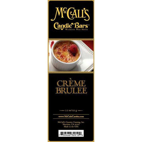 McCall's Candles Candle Bar 5.5 oz. - Creme Brulee