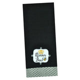 Design Imports Kitchen Towel - Queen Bee Embellished