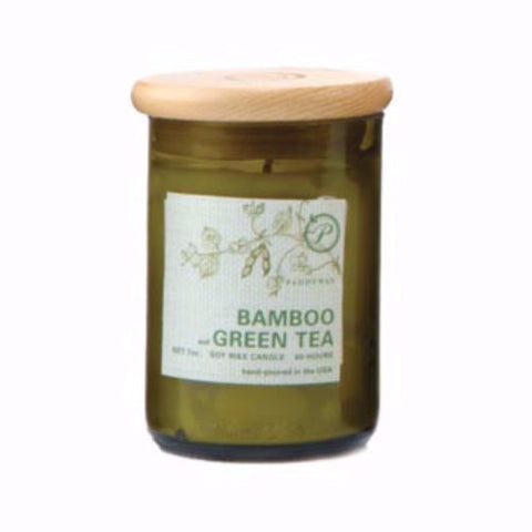 Paddywax Eco Green Candle 8 Oz. - Bamboo & Green Tea