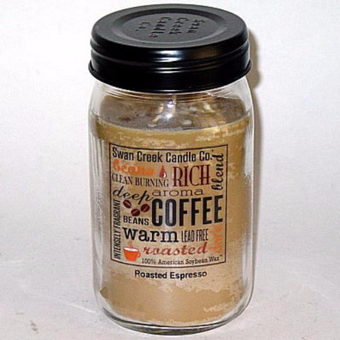 Swan Creek 100% Soy 24 Oz. Jar Candle - Roasted Espresso