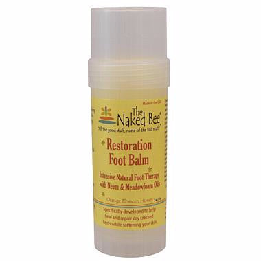 Naked Bee Foot Balm Twist Up Tube 2.0 Oz.
