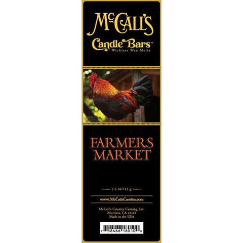 McCall's Candles Candle Bar 5.5 oz. - Farmers Market