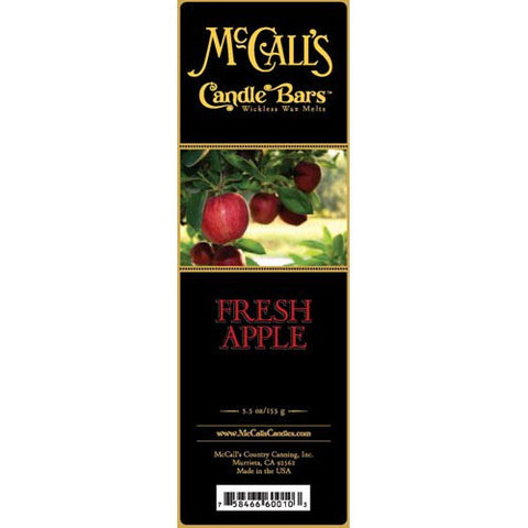 McCall's Candles Candle Bar 5.5 oz. - Fresh Apple