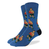 Good Luck Sock Men's King Size Crew Socks - Mike Tyson Punch-Out!!