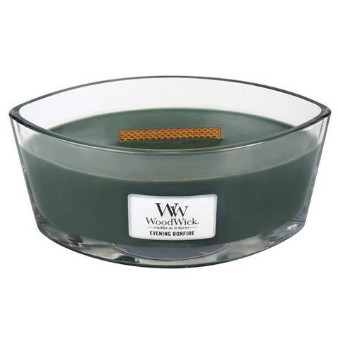 Woodwick Hearthwick Flame 16 Oz. Candle - Evening Bonfire