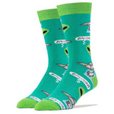 Oooh Yeah! Socks Men's Crew Socks - Bacon Abduction