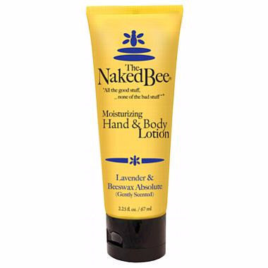 Naked Bee Hand & Body Lotion 2.25 Oz. -  Lavender & Beeswax Absolute