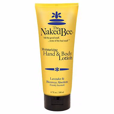 Naked Bee Hand & Body Lotion 6.7 Oz. - Lavender & Beeswax Absolute