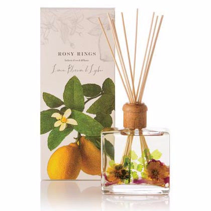 Rosy Rings Botanical Reed Diffuser 13 Oz. - Lemon Blossom & Lychee