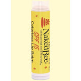 Naked Bee Colorless Lip Balm Sunscreen SPF 15 0.15 Oz.
