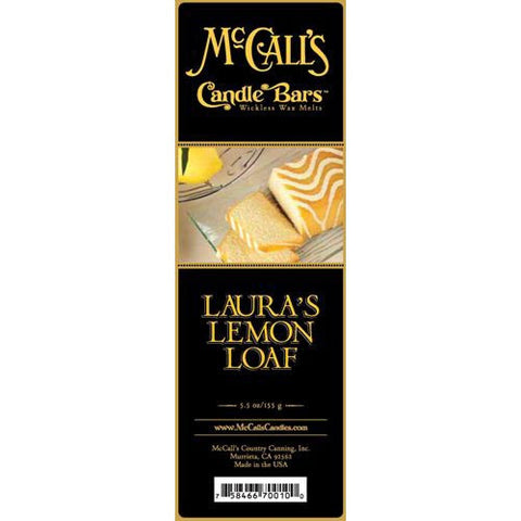 McCall's Candles Candle Bar 5.5 oz. - Laura's Lemon Loaf