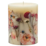 Rosy Rings Botanical Candle 6.5 Inches Tall - Apricot Rose
