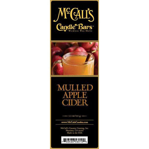 McCall's Candles Candle Bar 5.5 oz. - Mulled Apple Cider