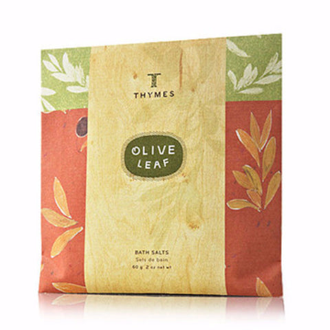 Thymes Bath Salt Envelopes 2.0 oz. Set of 6 - Olive Leaf