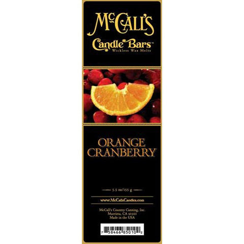McCall's Candles Candle Bar 5.5 oz. - Orange Cranberry