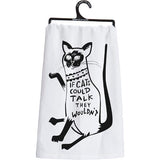 Primitives by Kathy Dish Towel - Cats Could Talk