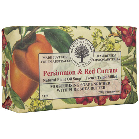 Australian Soapworks Wavertree & London 200g Soap - Persimmon & Red Currant