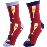 Pavilion Gift Unisex Cotton Blend Socks - Prosecco & Raspberries